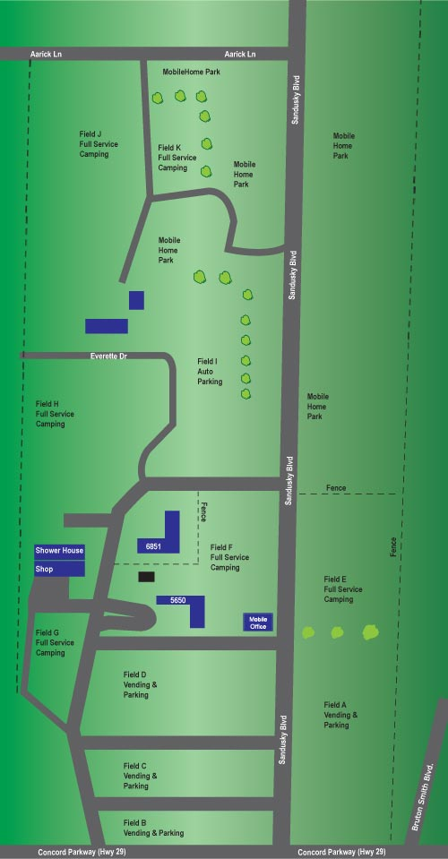 RV Camping & Parking Site Map